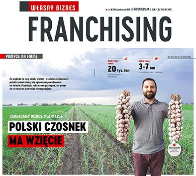 artykuł o czosnku w czasopiśmie Franchising